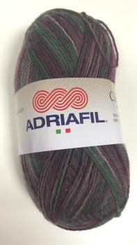Adriafil Calzasocks Sock Yarn - 30 Multi-Burgundy - Wool Nylon Mix