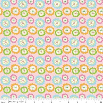 Riley Blake Designs Fabric - Owls & Co Collection Floral Pink