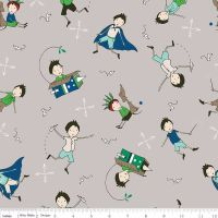 Riley Blake Designs Fabric - Greatest Adventure Collection Main Grey