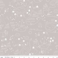 Riley Blake Designs Fabric - Greatest Adventure Collection Map Grey