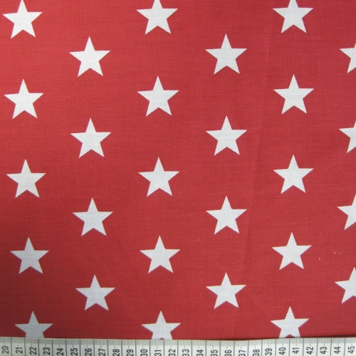 White Stars on Red Background