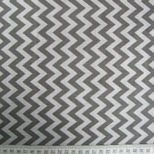 Grey Zig-Zag Pattern on White Background