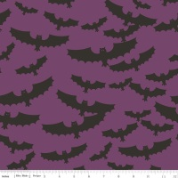 Riley Blake Designs Fabric - Lost & Found Collection Halloween Main Purple