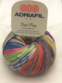 Adriafil Duo Plus Variegated DK Yarn - Colourful Fantasy - 52% Wool 48% Cotton