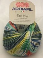 Adriafil Duo Plus DK Yarn - Tropical Fantasy - Variegated Wool/Cotton Mix