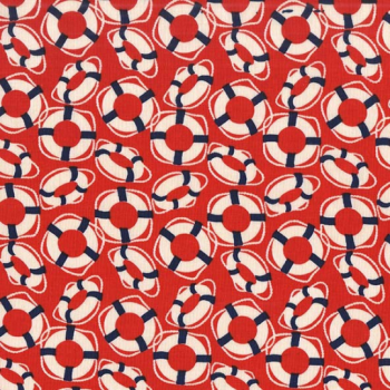 Michael Miller Fabric - Yacht Club Oh Buoy Red