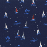 Michael Miller Fabric - Yacht Club Sail On Navy