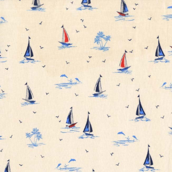 Michael Miller Fabric - Yacht Club Sail On Ivory