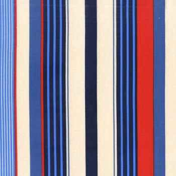 Michael Miller Fabric - Yacht Club Starboard Stripes Sailor