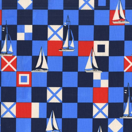 Mariner Flags Sailor - Yacht Club Collection - Michael Miller