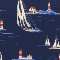 Michael Miller Fabric - Yacht Club Windward Navy