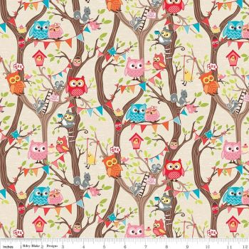 Riley Blake Designs Fabric - Tree Party Collection Main