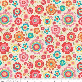 Riley Blake Designs Fabric - Tree Party Collection Floral Cream