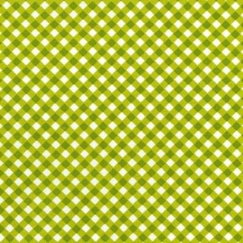 Michael Miller Fabric - Flowers Aplenty Cross Check (Avacado)
