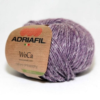 Adriafil WoCa Eco Yarn DK - 85 Grapes Purple - 70% Wool 30% Hemp