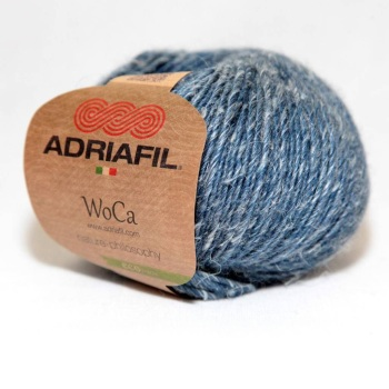 Adriafil WoCa DK Eco Yarn - 86 Denim Blue - Wool/Hemp (70%/30%)