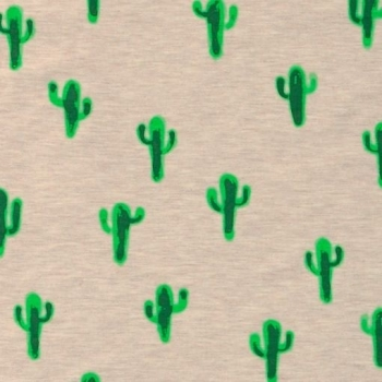 Jersey Fabric (Oeko Tex) - Cactus (Grey)