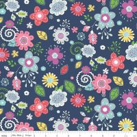 Riley Blake Designs Fabric - Enchanted Collection - Main Navy