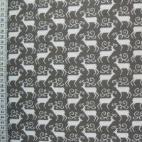 Reindeer - Grey - Polycotton