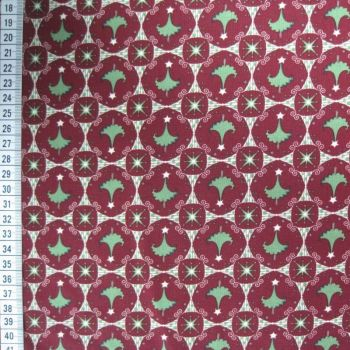 Christmas Trees - Red Green - 100% Cotton (extra long)
