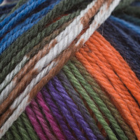 Adriafil Knitcol DK 100% Merino Wool - 63 Mozart Blue Green Orange - Yarn