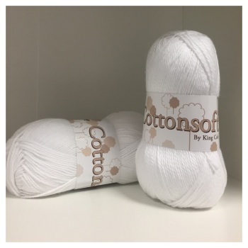King Cole - Cottonsoft DK - White