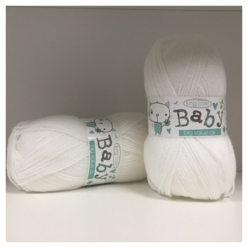 King Cole - Baby Big Value DK - White