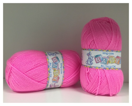 King Cole - Baby Big Value DK - Bright Pink