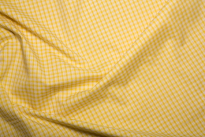 "Gingham 1/8"" Checks - Yellow - Polycotton"