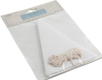Make Your Own Bunting Kit - White - Groves