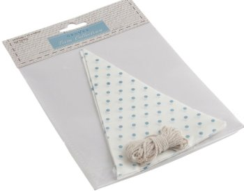 Make Your Own Bunting Kit - White With Blue Spots - Groves