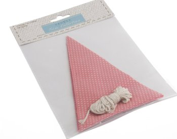 Make Your Own Bunting Kit - Pink With White Spots - Groves