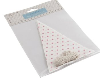 Make Your Own Bunting Kit - White With Pink Spots - Groves