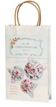 Summer Flowers Brooches Kit - Tilda