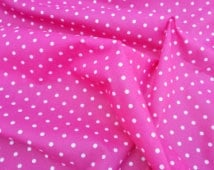 Polycotton - Small Spot Flo Pink