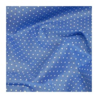 Polycotton - Small Spot Royal