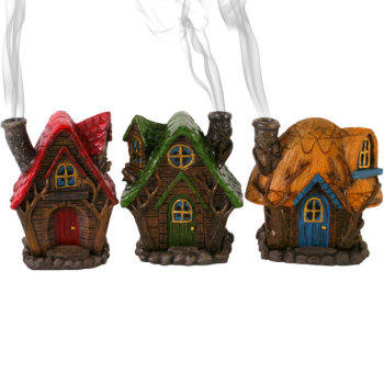 Fairy House Incense Cone Burner - 3 Different Designs