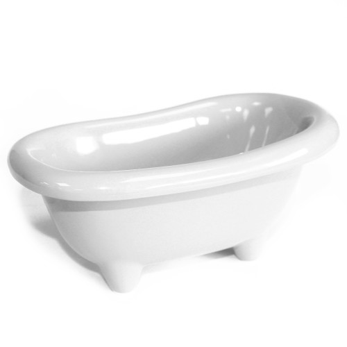 White Mini Ceramic Bath