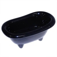 Black Mini Ceramic Bath