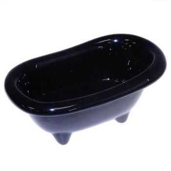 Black Mini Ceramic Bath