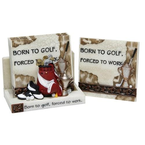 3D Classic Coaster Set - Born to Golf