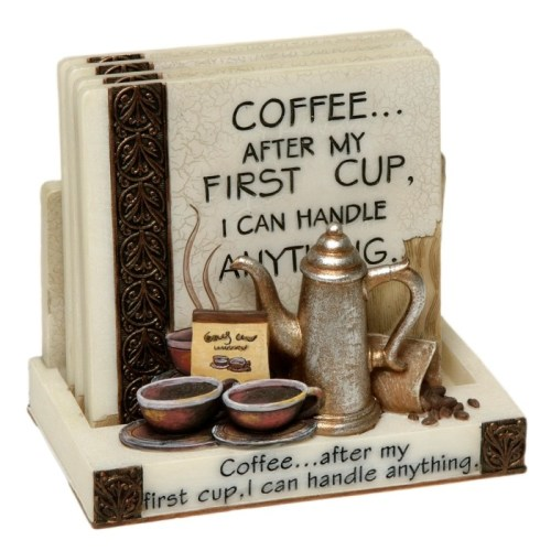 3D Classic Coaster Set - Coffee