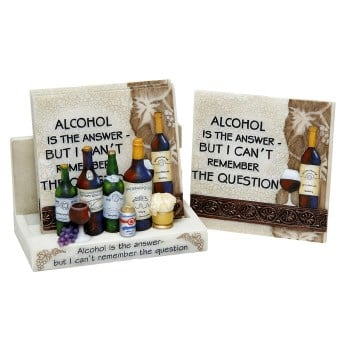 3D Classic Coaster Set - Alcohol