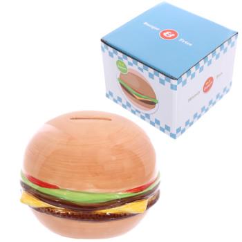 Novelty Fast Food Burger Ceramic Money Box