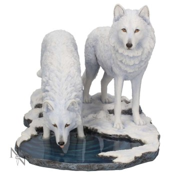 Warriors of Winter wolves figurine - Lisa Parker