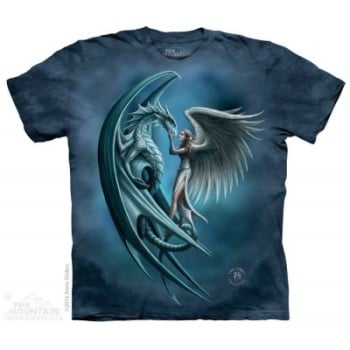 Silver Back - Angel and Dragon Adult T Shirt - Anne Stokes