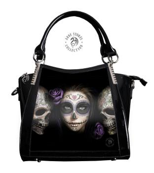 3D Lenticular Black PVC Handbag Day of the Dead - Anne Stokes