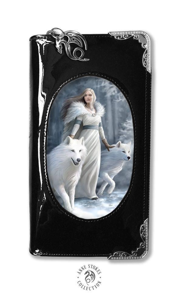 3D Lenticular Black PVC Purse - Winter Guardians - Anne Stokes