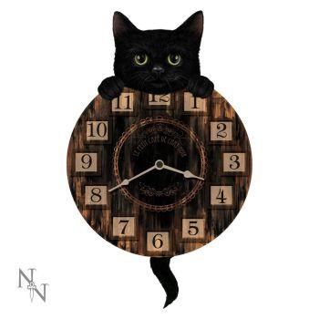 Kitten Tickin Wall Clock with Pendulum