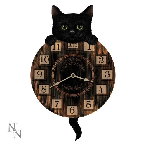 Kitten Tickin Wall Clock with Pendulum